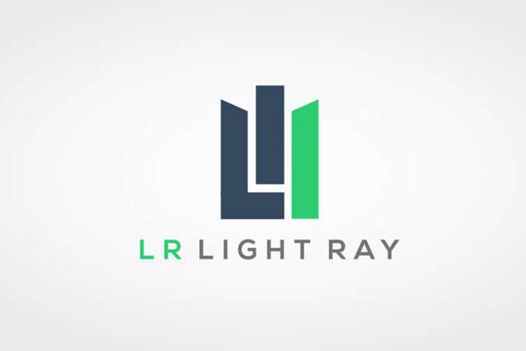 Criação de logo LR Light Ray Arquitetura e elétrica