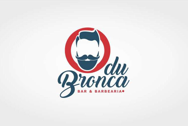 Criação de Logotipo Barbearia Du Bronca
