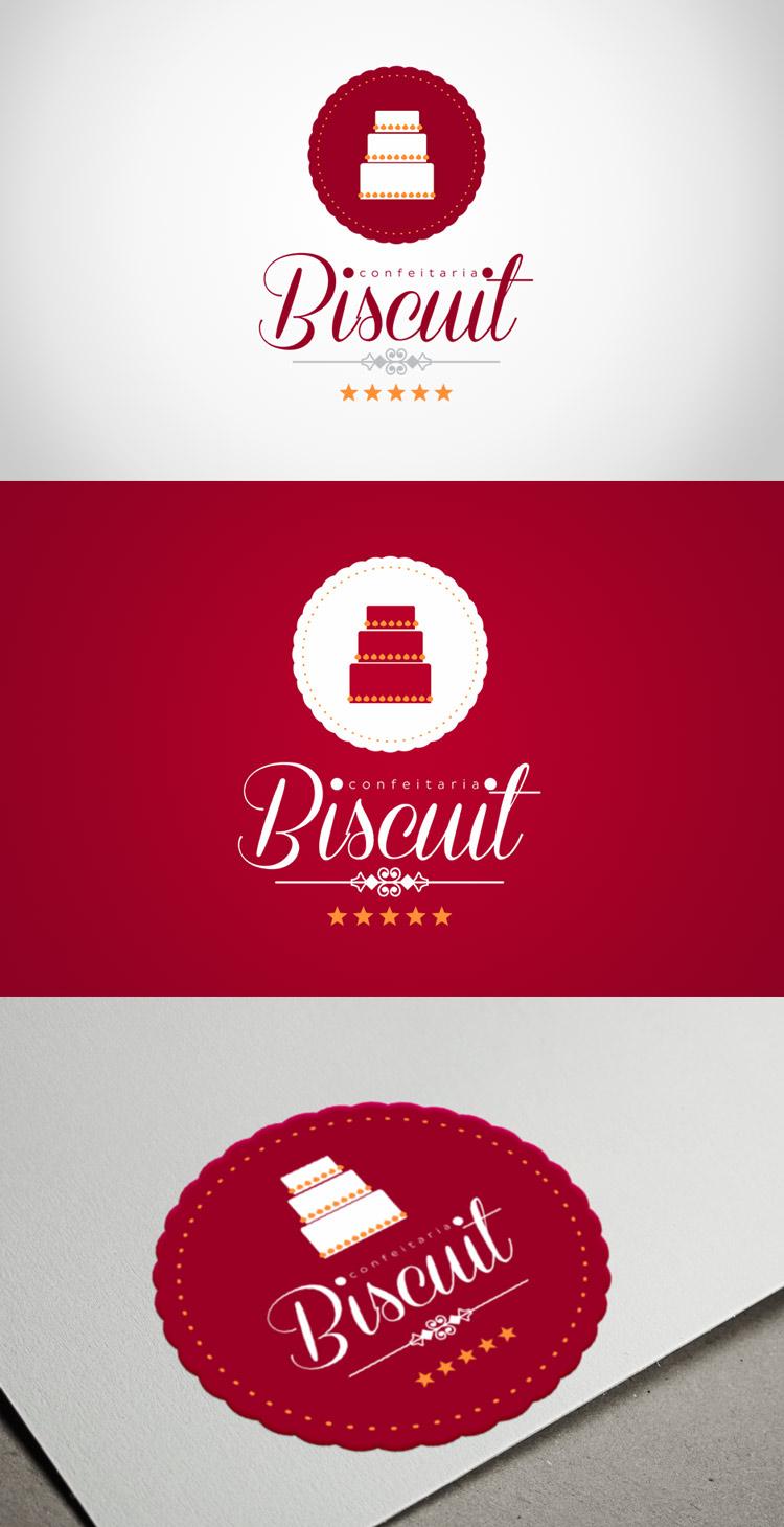 Criação de logotipo Confeitaria do Biscuit