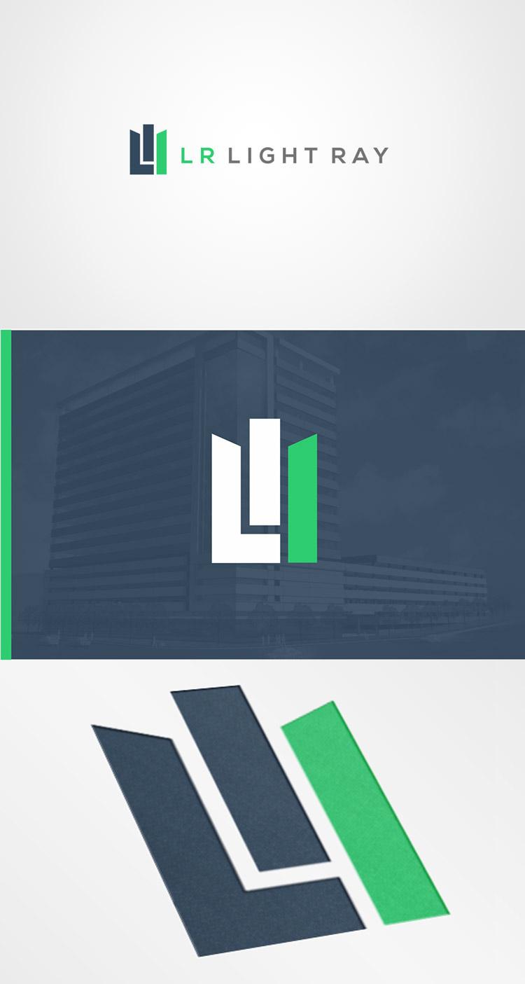 criação de logotipo lr light ray