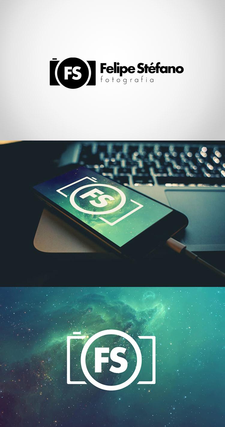 Criação de logotipo felipe stéfano fotografia