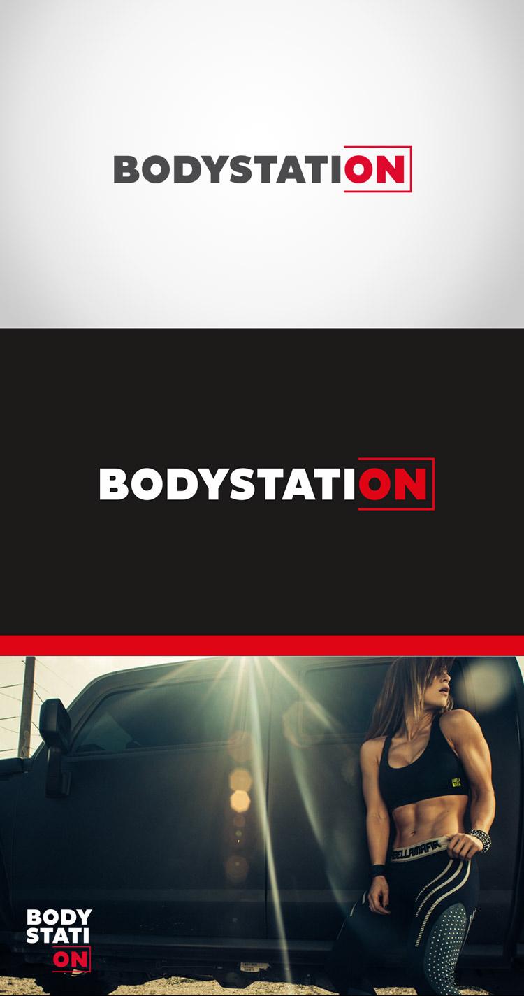 Criação de logotipo Bodystation Moda Fitness