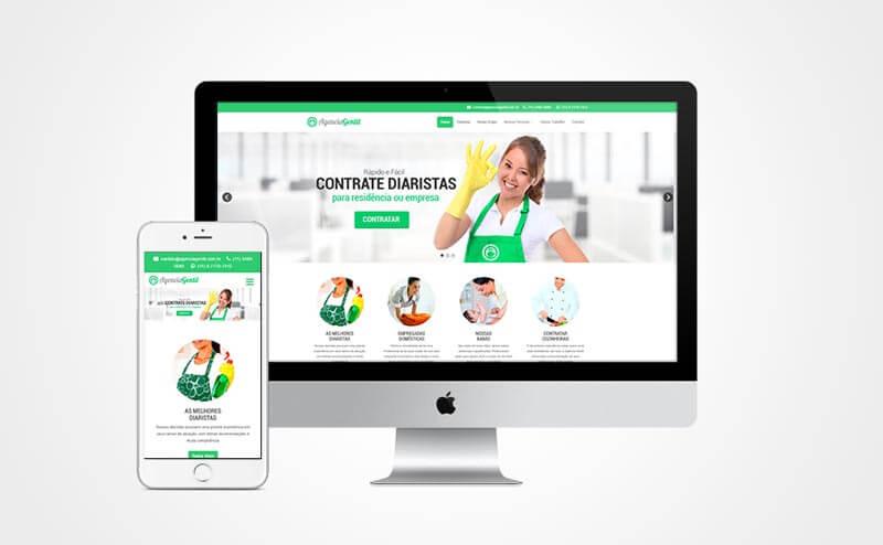 Criação de site responsivo Agência Gentil