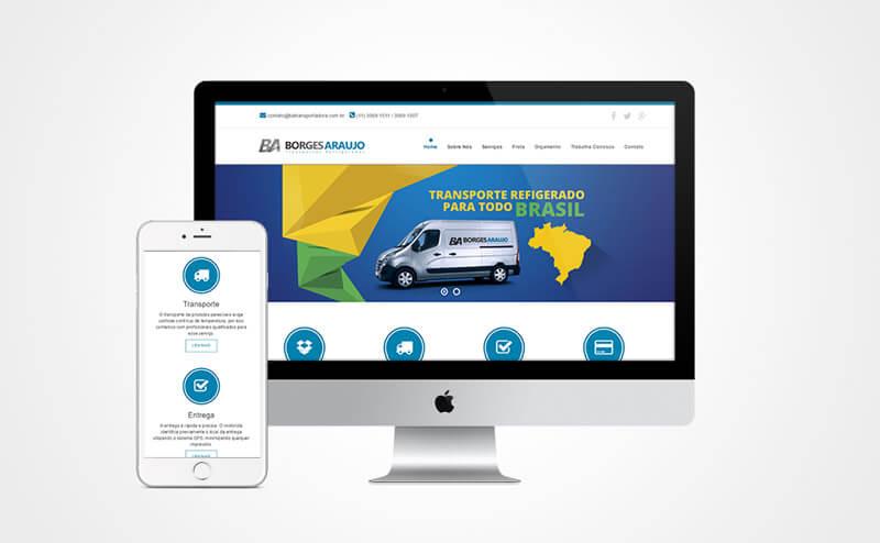 Criação de site responsivo Ba Transportadora