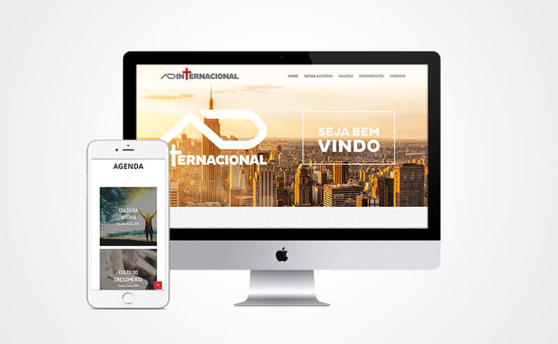 Criação de site responsivo AD Internacional
