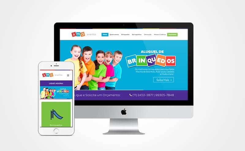 Criação de site responsivo KMA Eventos