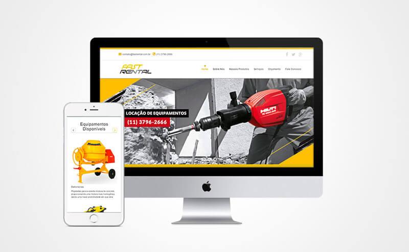 Criação de site mobile Fast Rental