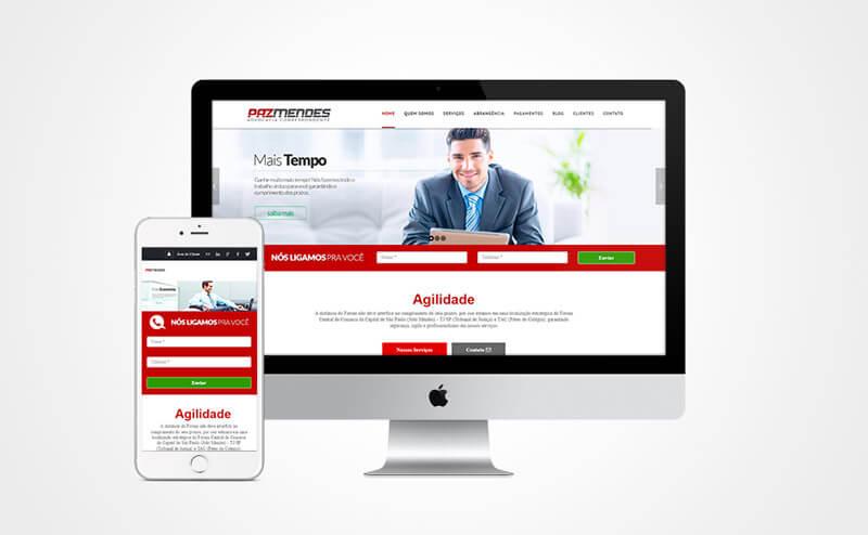 Criação de site mobile Advogados Correspondentes
