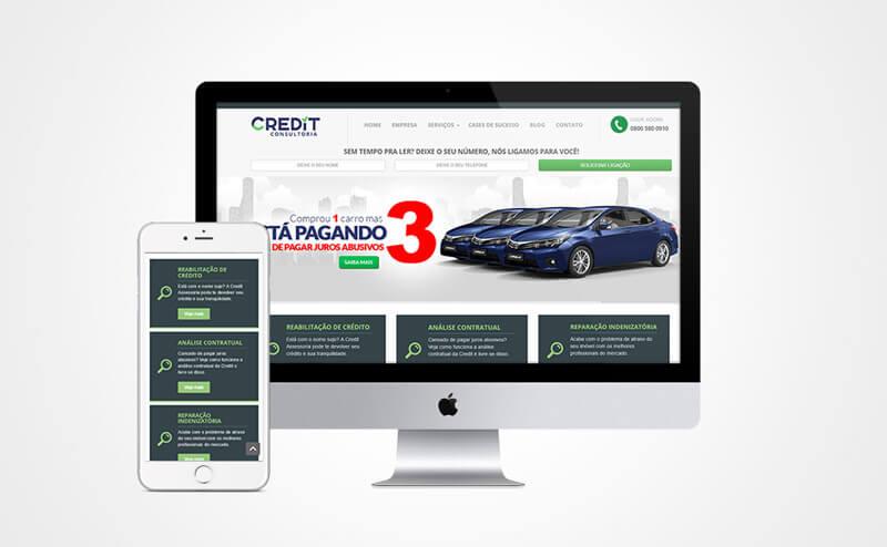 Criação de site mobile Credit Consultoria