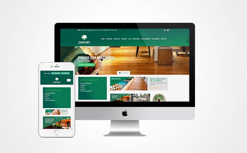 Criação de site responsivo Zanchet Madeiras