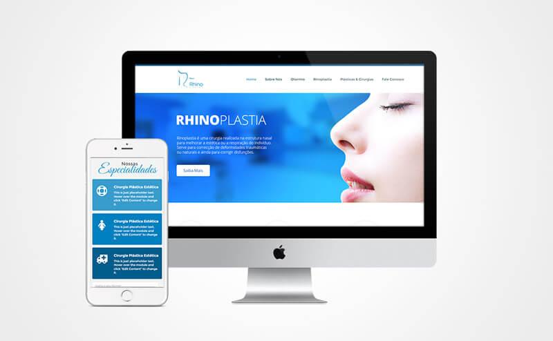 Criação de site responsivo Rhinocenter