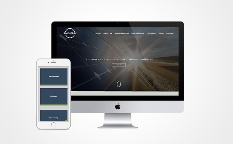 Criação de site responsivo Six Energy