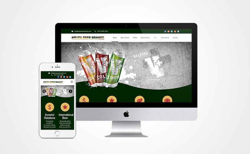 Criação de site responsivo Krupa Beer Brands