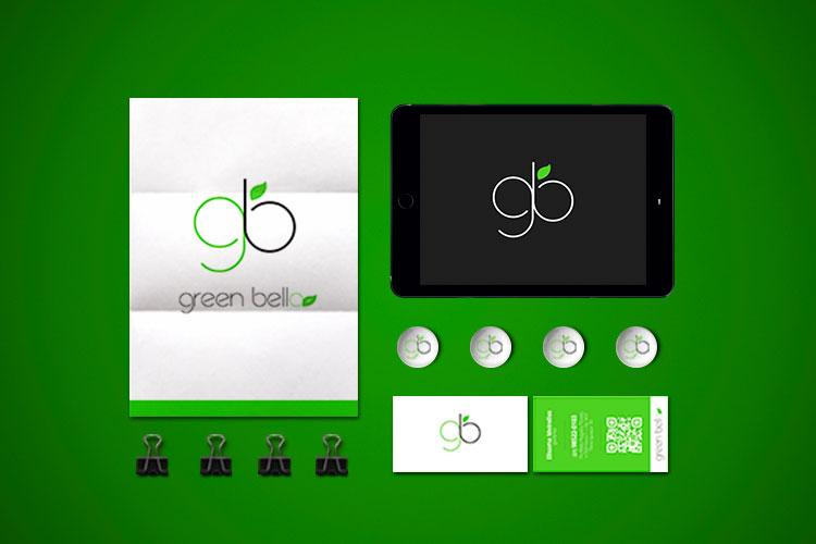 Criação de identidade visual Marca de roupa Green Bella