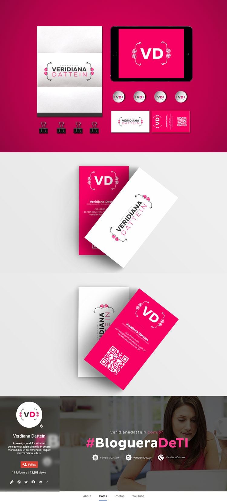 Identidade visual Veridiana Datein Blog de TI