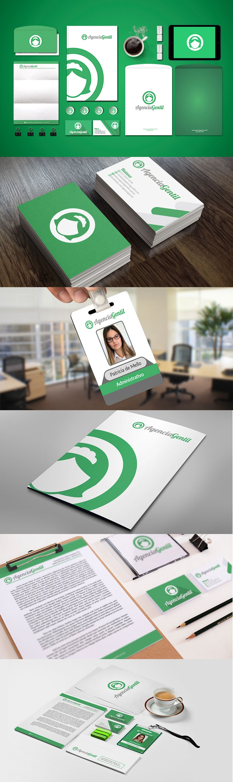 Identidade Visual para Agência de Domésticas Agência Gertil