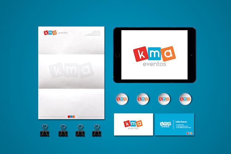 Criação de identidade visual locação de brinquedos KMA eventos