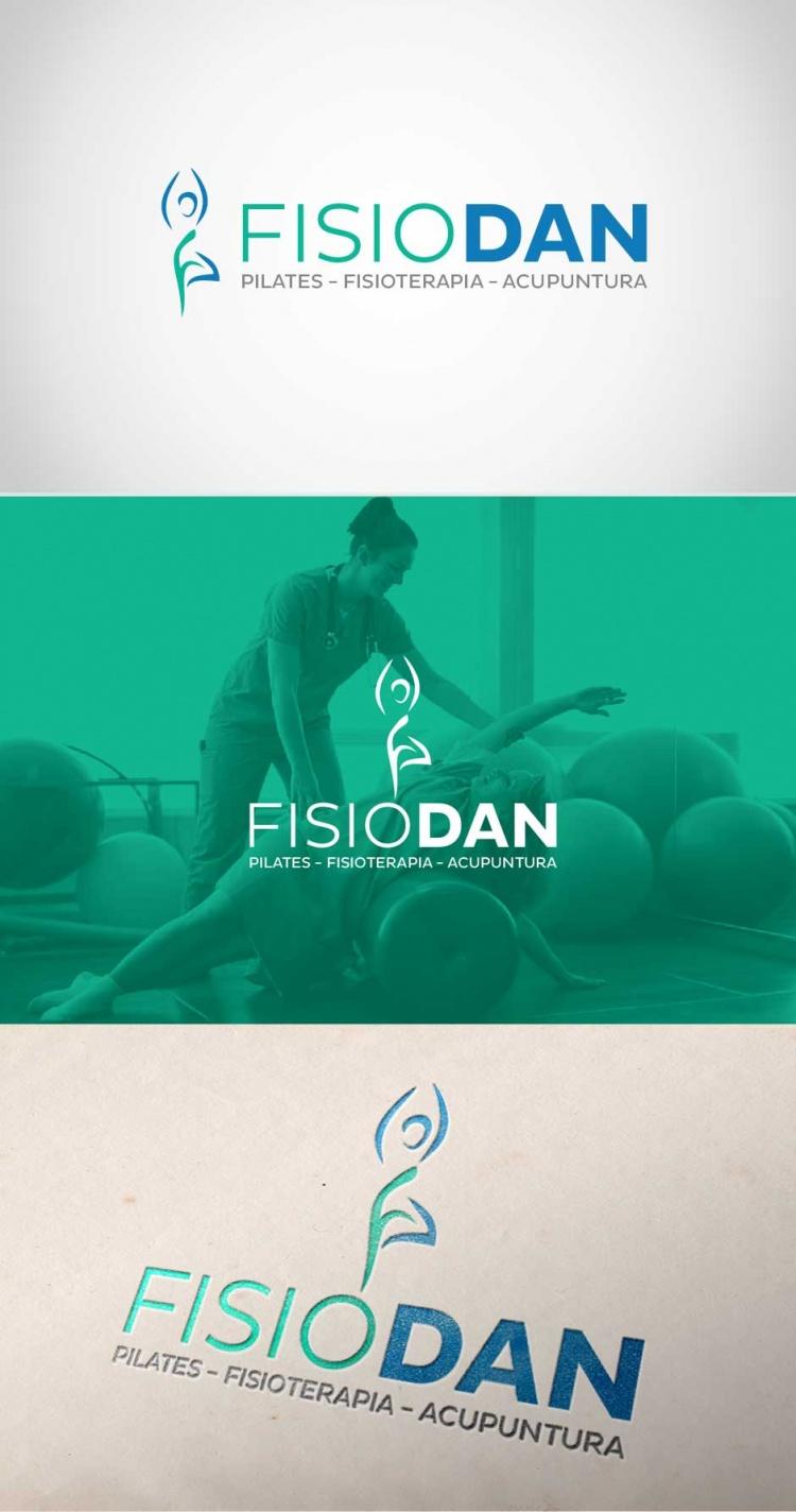 Criação de logo para clínica de fisioterapia Fisiodan