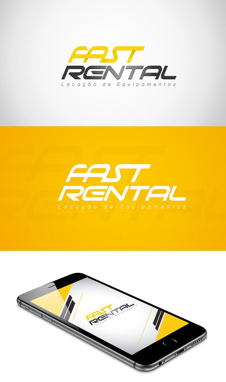 Criação de logotipo Locação de Equipamentos Fast Rental