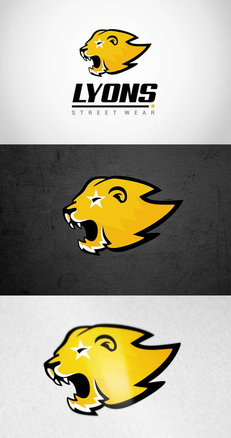 Criação de logotipo para loja de roupas Lyons Street Wear
