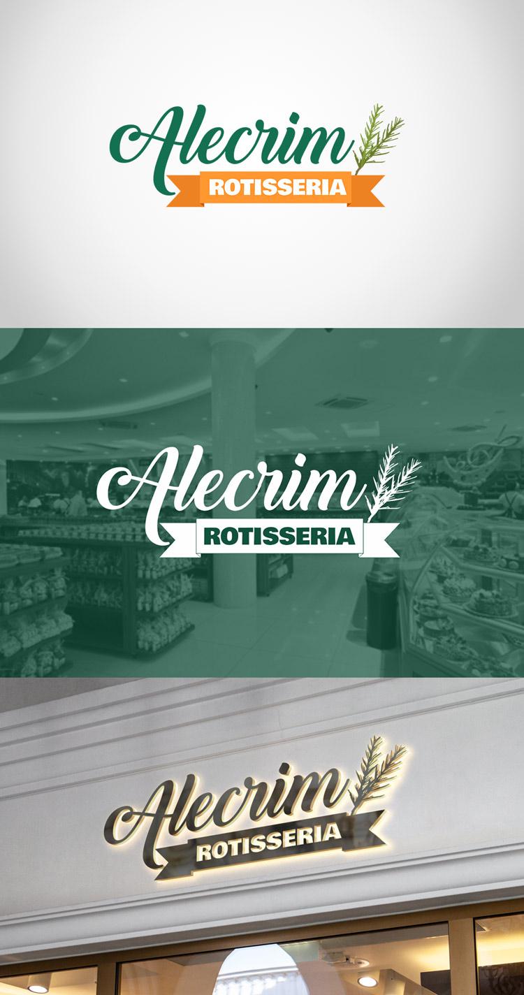 Criação de Logotipo Rotisseria Alecrim