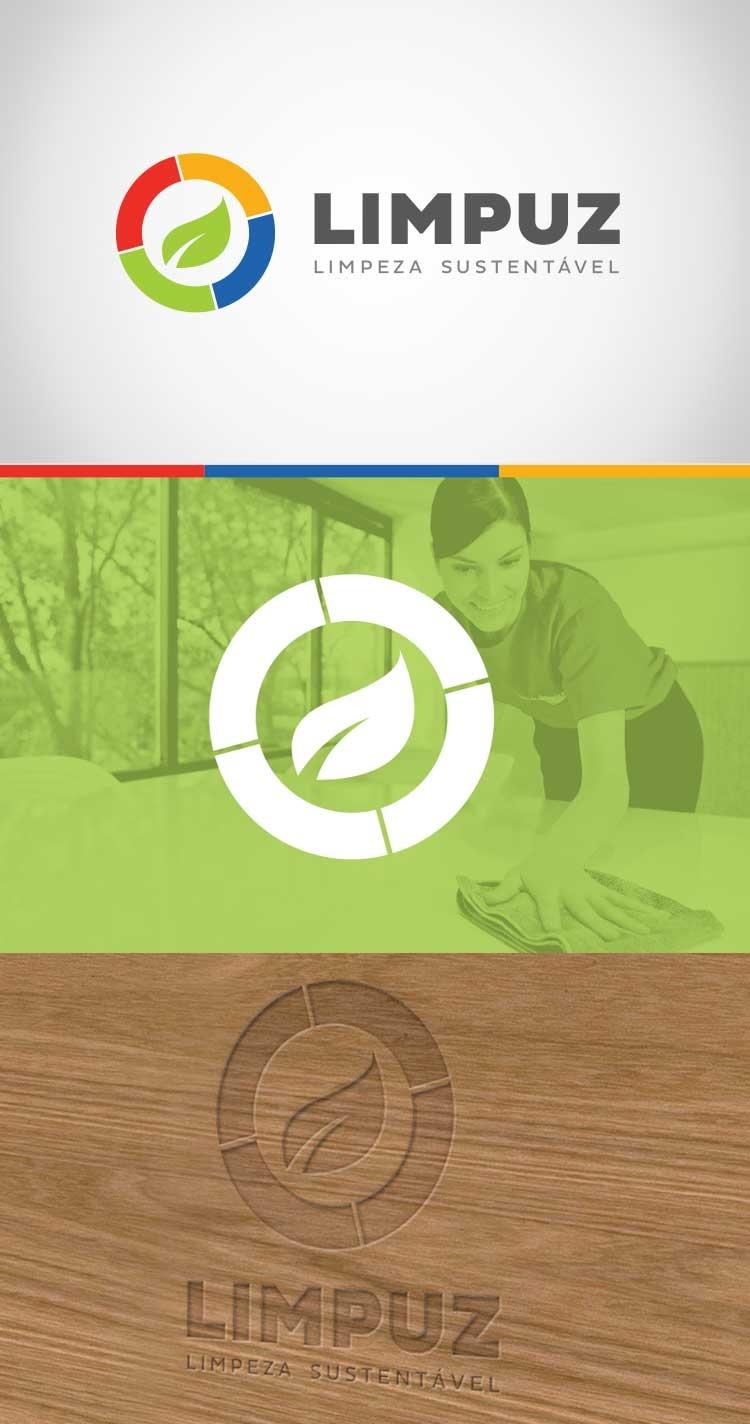 Criação de Logotipo Limpuz Empresa de Limpeza Sustentável