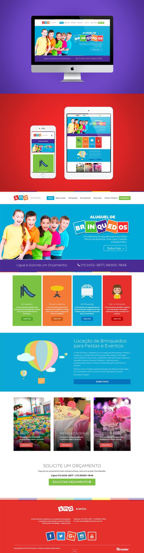 Criação de site KMA Eventos Aluguel de brinquedos