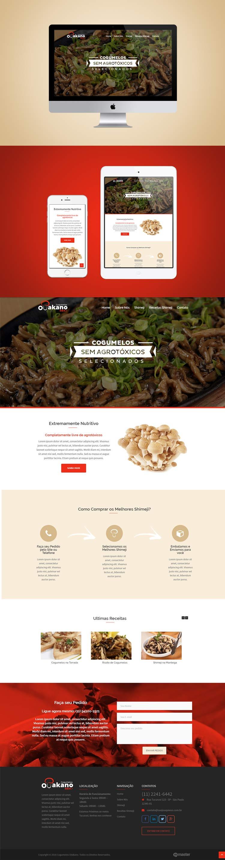 Criação de site Otakano Cogumelos