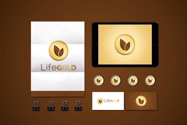 Identidade Visual Life Gold