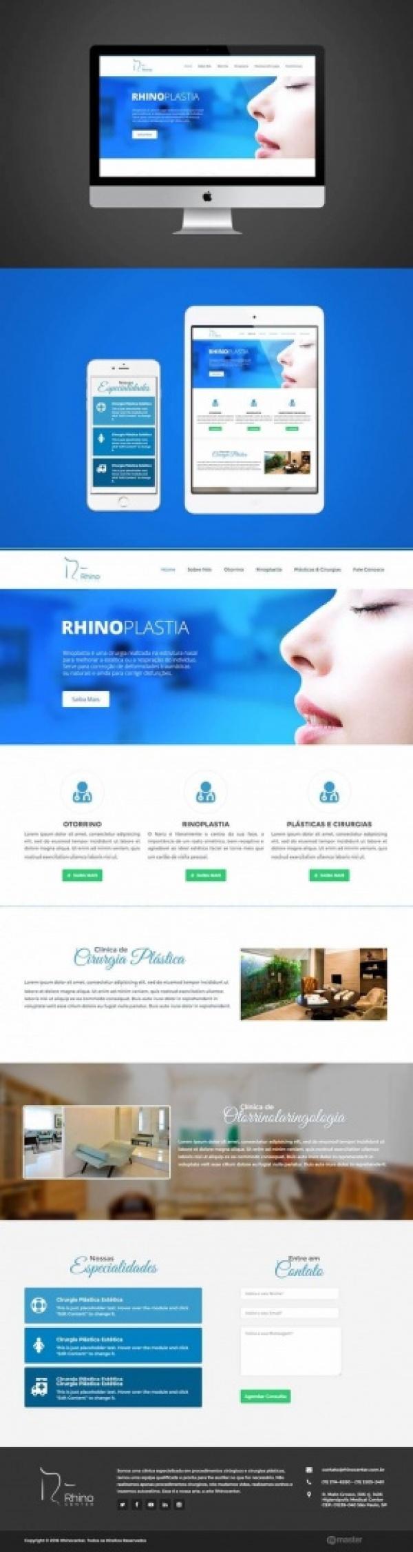 Criação de Site para Clínica Rhinocenter