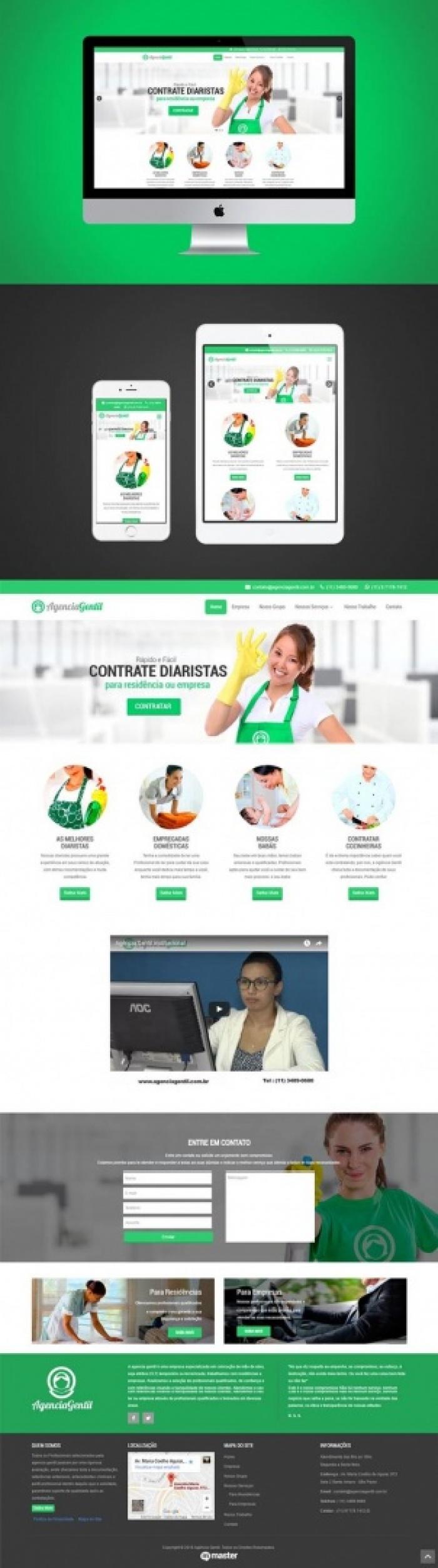 Criação de site Agência Gentil - Agência de domésticas