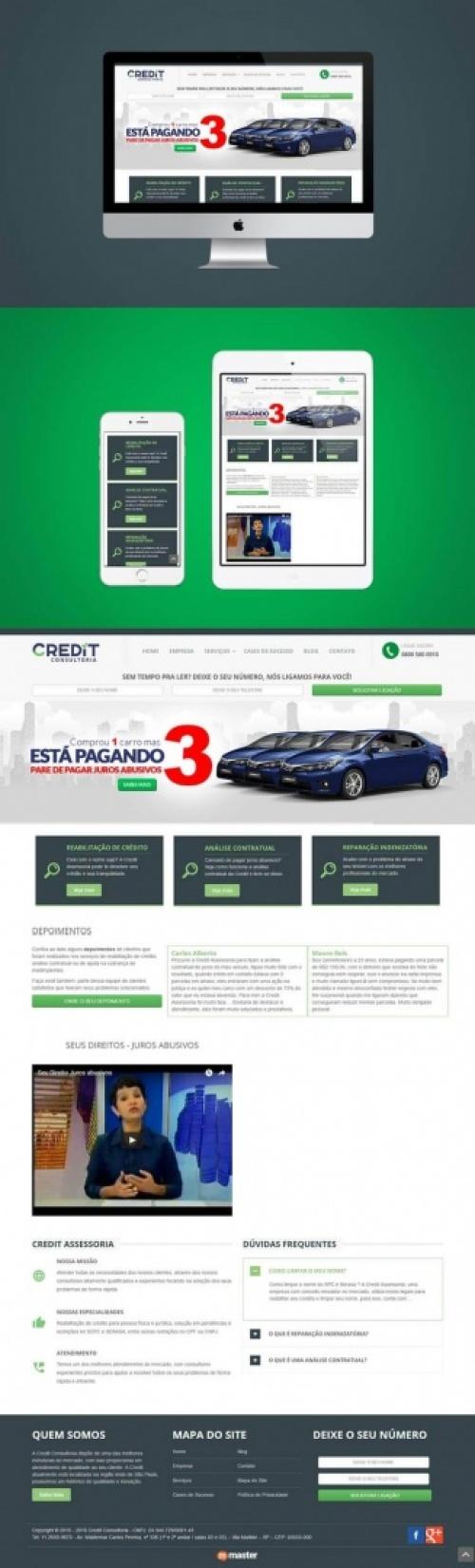 Criação de site Credit Assessoria - Revisão Contratual e Reabilitação de Crédito
